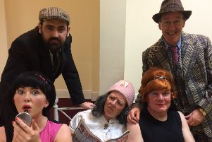 The cast of When the Bogside Spinster Met the Carndonagh Stud.
