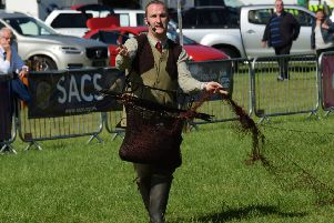 Steven McGonigal demonstrating at the 2016 Irish Game Fair.