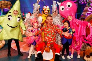 The Late Late Toy Show host, Ryan Tubridy, pictured with some of the children who will be appearing in this year's live show on Friday December 1. (Photo: Andres Poveda/Andres Poveda Photography)