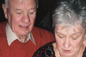 Christine McCartney pictured with her late husband.