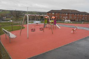 Some of the attractions at the new play park in the Brandywell.