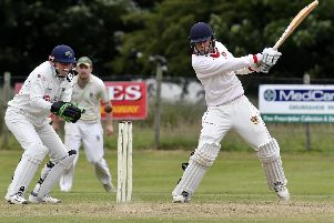 Brigade batsman Kyle Magee pictured in action in their win at Ardmore on Sunday. DER2518-132KM