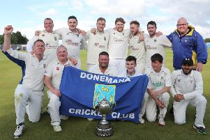 Donemana CC, winners of the Bank of Ireland North West Senior Cup for the sixth year in succession.