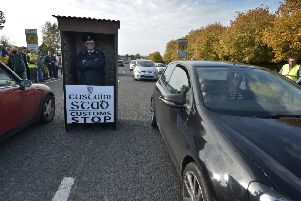 A  previous Brexit protest in Derry