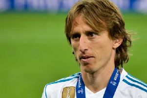 Real Madrid midfielder Luka Modric