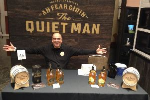 Ciaran Mulgrew at the New Yourk Whiskey Show, showcasing The Quiet Man.