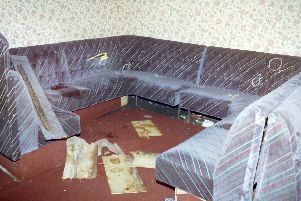 The interior of the Rising Sun bar in Greysteel, Derry, where UFF gunmen carried out a massacre, killing seven people.