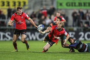Ulster's Will Addison and Jacob Stockdale (left) are both included in the Ireland squad