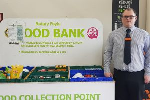 Ciaran Harte, Customer Trade and Food Manager at Sainsburys Foodbank collection point. Sainsburys is one of the supermarkets supporting the Bangor foodbank.