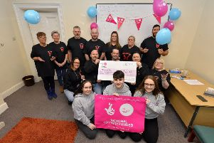Me4Mental Health Staff and volunteers celebrate their recent Big Lottery Fund grand of �9440, at their offices in Queen's Street.  DER4718GS063