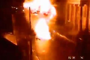 CCTV footage of the bomb.