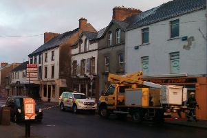 The scene in Buncrana on Monday morning. (Video courtesy of Christine Cooper)