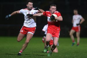 Sean Quinn returns from injury this weekend as Derry make the long trip to Fraher Field, Waterford. (Photo: INPHO/Lorcan Doherty)