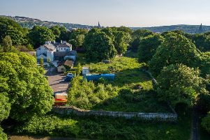 An aerial shot of the St Columb's Park Walled Garden site which will be restored to its former glory following the start of work this week.