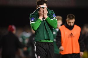 Derry City right-back., Conor McDermott made his first appearance of the season at Dalymount Park on Friday night.