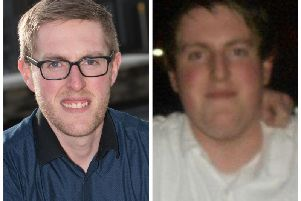 Eoin Coyle after and before he shed a huge 14 stone. (Photos: N.W.R.C.)