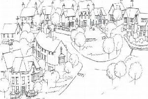An artist's impression of how the 'arts and crafts' inspired homes will look.