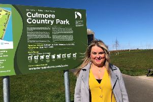 Councillor Sandra Duffy at Culmore Country Park.