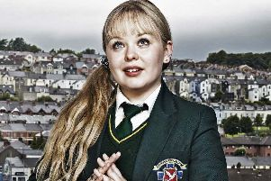 Derry Girls star, Nicola Coughlan, who plays Clare Devlin in the hit Channel 4 comedy series. (Photo: Channel 4)