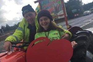 Caitlin to complete tractor run in memory of her grandfather Paddy