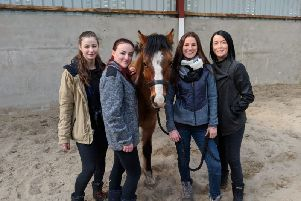 Mascha Hansen, Roisin Moran, Ozzy one of the ponies used by the team, Louise Moorhead and Carla Devine.