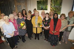 """Ladies from Galliagh Womens�"""" Group pictured at Thursday night�""""s event."""