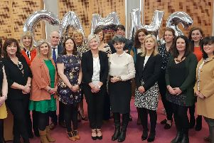 Some of the representatives from Western Trust's CAMHS, YOYPIC and Education Authority who attended the launch of the CAMHS Young Minds Matter resources for young people.