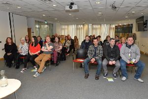 There was a large attendance at Autism Initiatives' official launch of the 'Active Autism Floating Support Service' held recently in the Holywell Trust on Bishop Street. DER1419GS-032
