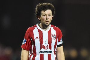 Derry City captain Barry McNamee.