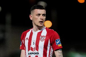 Striker David Parkhouse has scored three goals in Derry City's last four games.