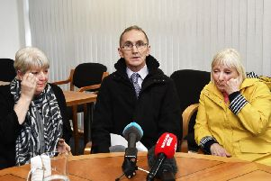Daniel Hegarty's sisters Margaret Brady (left) and Kathleen Devenney, with Margaret's husband Hugh. (Picture by Keith Moore)