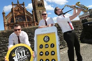 Local band Stevie and  the G's kicking off the 18th City of Derry and Big Band  Festival with the launch of the new What's On Derry Strabane App, featuring this weekend's full jazz festival programme.