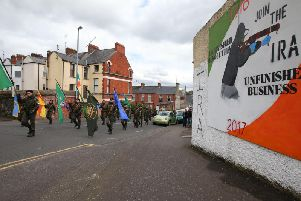 Republicans take part in the Saoradh National Easter Commemoration in Derry in 2017. (Photo: Presseye)