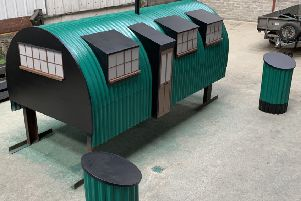 The new Springtown Camp art installation features a replica of the nissan huts.