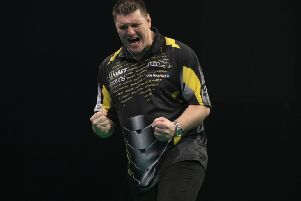 Daryl Gurney in action. 'PIC: LAWRENCE LUSTIG