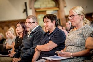 RCN board members at a public meeting in the Guildhall.