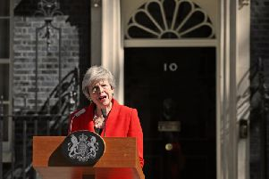 Prime Minister Theresa May pictured outside 10 Downing Street on Friday morning. (Photo: P.A. Wire)