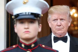 President of the United States of America, Donald Trump, pictured at a banquet he hosted at the residence of the U.S. Ambassador to the U.K. on Tuesday. (Photo: Getty Images)