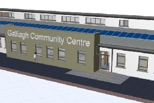 An artist's impression of how the new Galliagh Community Centre will look.