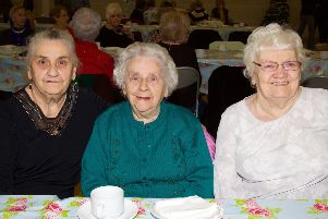 Bridget, Mary Anne and Bridie pictured at The Mayor's Tea Dance in Creggan