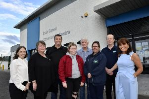Pictured at the launch of the 'Big Oaks from Little Acorns' health project in the Irish Street Community Centre on Tuesday evening were, from left, Emer McElhinney, Apex Housing, Nyree McMorris, Irish Street Community Centre, Eamon McLaughlin, Hillcrest Trust, Keela Doherty, Whistle Project, Gerard McLaughlin, Men's Shed, Hillcrest Trust, Katrina Heaney, Whistle Project, Austin Kelly, Clanmil Housing Group, and Margaret Cunningham, Habinteg Housing. Absent from the photograph was Caroline McWilliams, Clanmil Housing, co-founder of the project with Emer and Margaret. DER2519-134KM