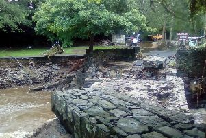 Swan Park in Buncrana was badly damaged by flood waters.