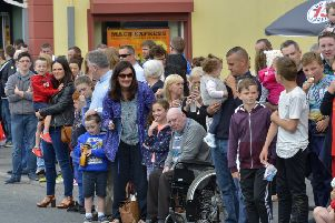 Spectators at  Sunday's Clonmany Festival Parade. DER3116GS041