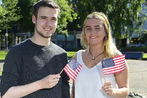 """Study USA Derry : Stephen Lemon (Limavady) and Dearbhaile Hassan (Culmore) are among 54 students who have been selected to take part in the British Council�""""s prestigious Study USA programme, where they will spend a year studying business or STEM-related subjects in the USA.  The programme is managed by the British Council on behalf of Department of Economy. For more information on the programme, visit http://nireland.britishcouncil.org, follow on Twitter: BCouncil_NI and on Facebook: www.facebook.com/britishcouncilnorthernireland."""