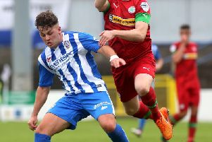 Coleraine's Ben Doherty hit the woodwork in the second half.