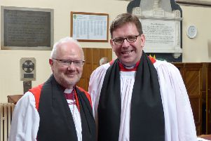 Ven. Andrew Forster, who has been elected Bishop of Derry and Raphoe. In the first, Bishop-elect Forster is pictured (right) alongside the Archbishop of Armagh, Most Rev'd Dr Richard Clarke, Primate of All Ireland,