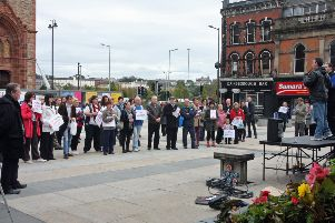 A previous protest against Bedroom Tax and other benefit changes in Derry. 2809JM72