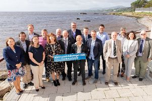 Pictured with Councillor Niamh Kennedy Leas Chathaoirleach, Donegal County Council are speakers at Donegal Marine Tourism Conference which took place in the Redcastle Oceanfront Hotel on Thursday and Friday along with Donegal County Council elected members and representatives.  Pictured l to r Joy Harron, Donegal County Council, Cllr. Albert Doherty, Dr. Margaret Rae, AORA, Dr. Stephen Hynes, NUI Galway, Cllr. Barry Sweeny, Cllr Niamh Kennedy, Mark Roulette, Failte Ireland, Garry Martin, Donegal County Council, Dr. Peter Bolan, Ulster University, Doug Allan, Seamus Neely, Donegal County Council, Peter Grogan, Emagine, Cormac McDonnell, Sport Ireland, Cllr. Martin Farren, William McElhinney, Wild Strands Caife, Joan Crawford Failte Ireland and Barney McLaughlin, Donegal County Council.