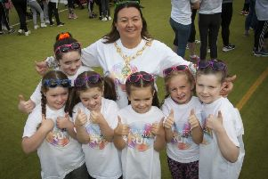 Mayor Michaela Boyle, pictured with some of the young participants. Photos: Jim McCafferty Photography.