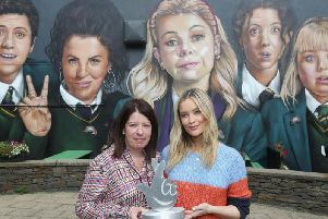 Jacqueline Williamson, Chief Executive Kinship Care, and Strictly star Laura Whitmore